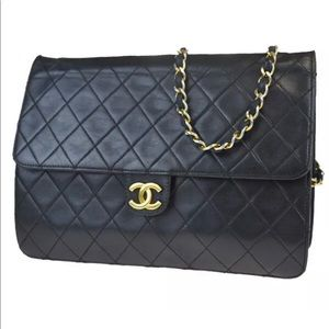 """Authentic CHANEL Quilted 10"""" classic bag"""